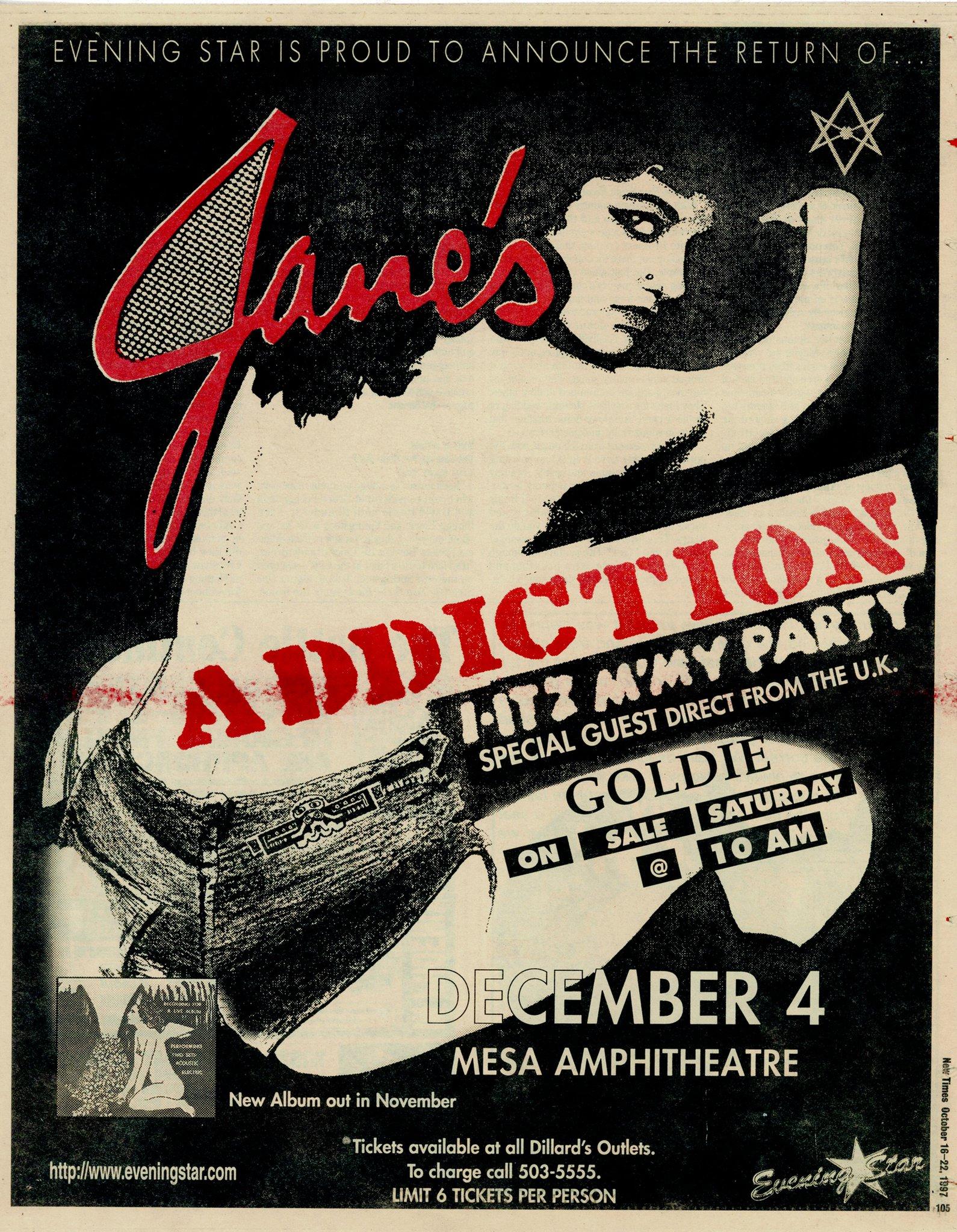 Jane S Addiction Tour Phoenix