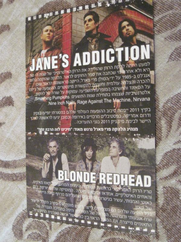 Jane's addiction tour dates in Perth