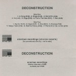 Deconstruction Advance Cassette Sleeve