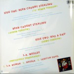 """Been Caught Stealing Limited Edition 12"""" Vinyl Back"""