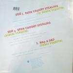 Been Caught Stealing Promo Vinyl Back