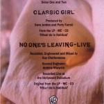 Classic Girl Cassette Back