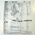 Jane's Addiction Vinyl Lyric Sheet Side 1