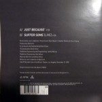 """Just Because 7"""" Vinyl Back"""