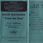 Trust No One Japanese Promo Cassette Cover