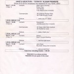 Strays Westwood One Album Premiere Cue Sheet