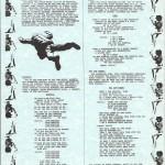 Worktape 1 Lyric Sheet
