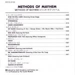 Methods of Mayhem Japanese Inside